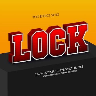 Lock 3d isometrischer text effekte