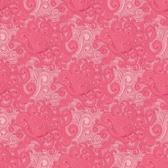 Lockiges gezeichnete rosa muster