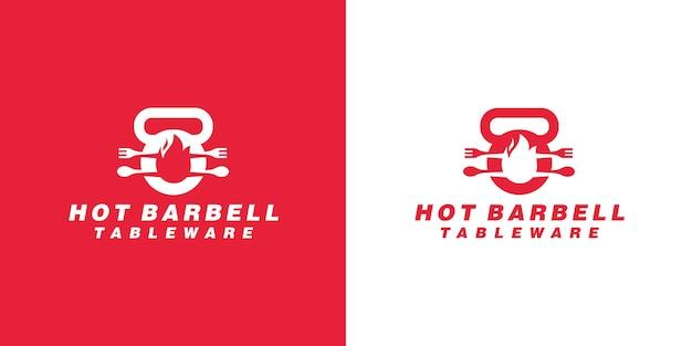 Löffel und gabel food fitness logo-design