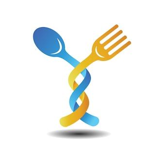 Löffel und gabeln illustration logo