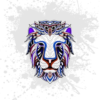 Löwe aus abstrakten dekorativen muster