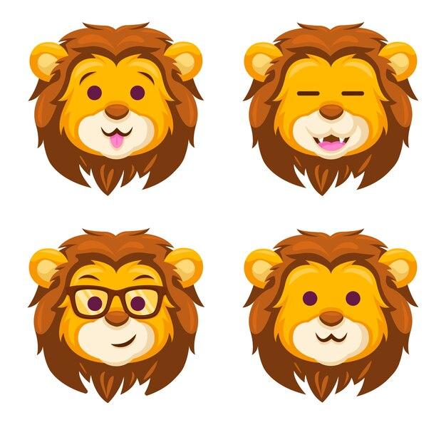 Löwe emoticon süß