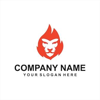 Löwe feuer logo vektor