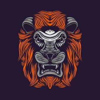 Löwe hören kunstwerk