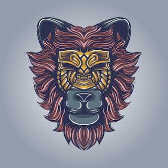 Löwe kunstwerk illustration