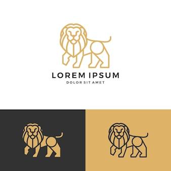Löwe-logo-vektor-symbol linie kunst-kontur-download