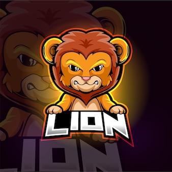 Löwe maskottchen esport logo design
