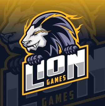 Löwe maskottchen esport-logo