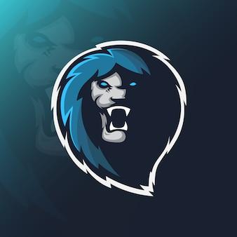 Löwe-maskottchen-logo
