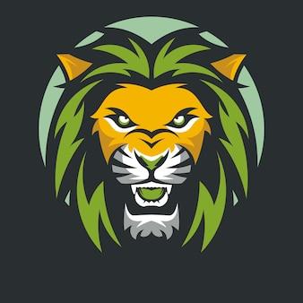 Löwe tier maskottchen kopf vektor illustration logo