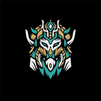Löwe wikinger logo vektor