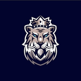 Löwen maskottchen logo design illustration