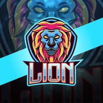 Löwen sport maskottchen logo design
