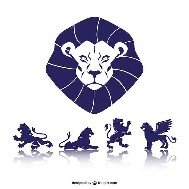Löwen symbolische grafik