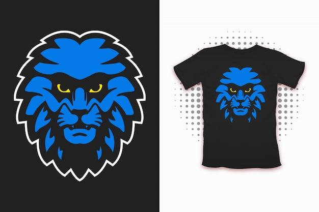 Löwendruck für t-shirt design