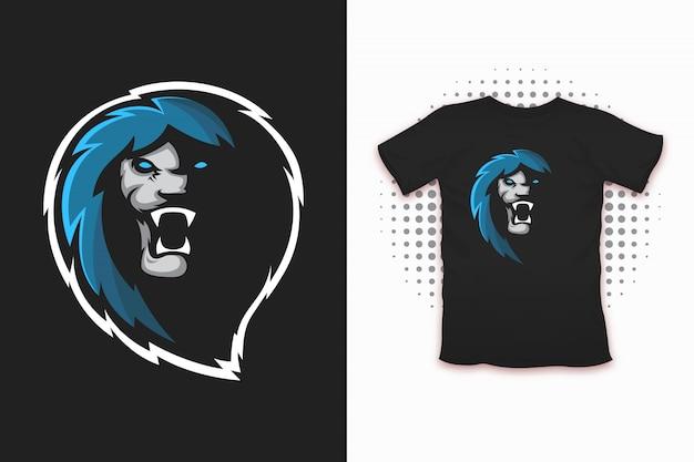 Löwendruck für t-shirt