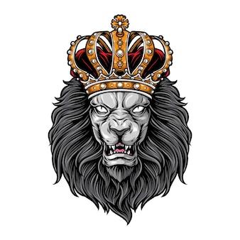 Löwenkönig-logoillustration