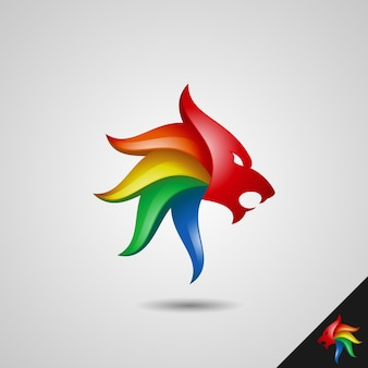 Löwenkopf-logo-vorlage