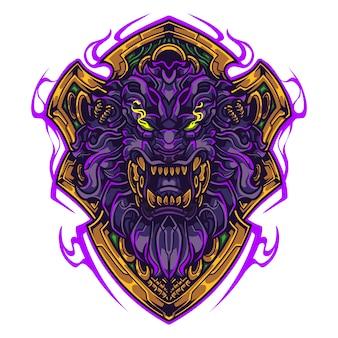 Löwenkopf maskottchen logo