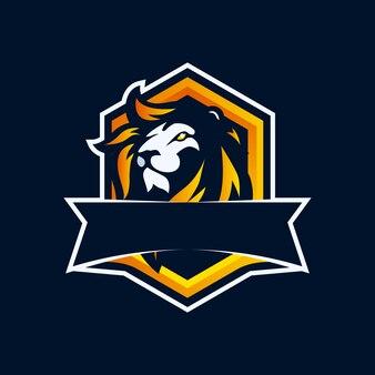 Löwenkopf-maskottchen-logo