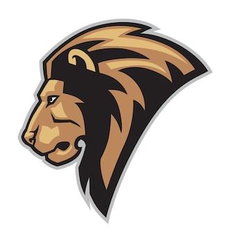 Löwenkopf-maskottchen