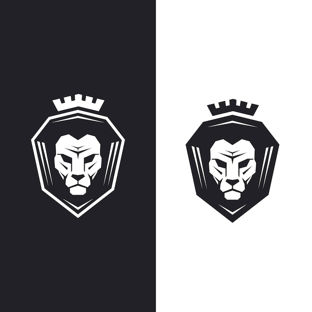 Löwenkopf mit königskrone.