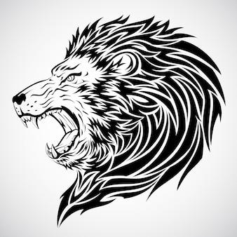 Löwenkopf tattoo