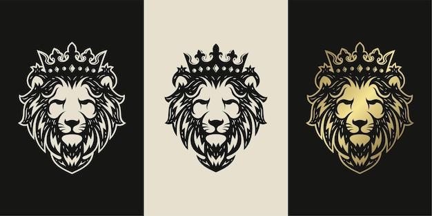 Löwenkopfillustration