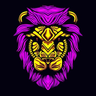 Löwenkopfmaske
