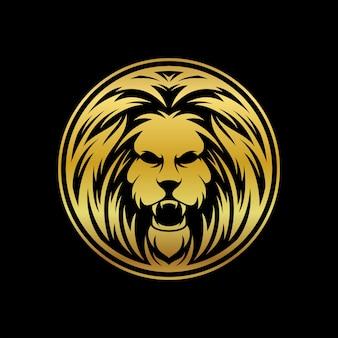 Löwenmaskottchenvektor
