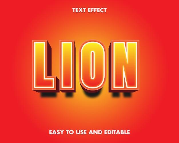 Löwentext-effekt. bearbeitbarer schrifteffekt.