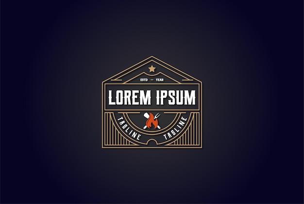 Löwenwappen mit feuerflammen-abzeichen-emblem-logo-design-vektor