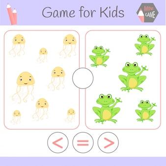 Logik-lernspiel für kinder im vorschulalter