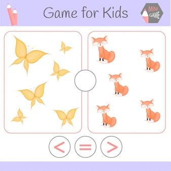 Logik-lernspiel für kinder im vorschulalter.