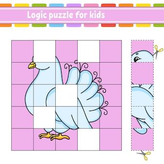 Logik-puzzle für kinder. arbeitsblatt zur bildungsentwicklung.