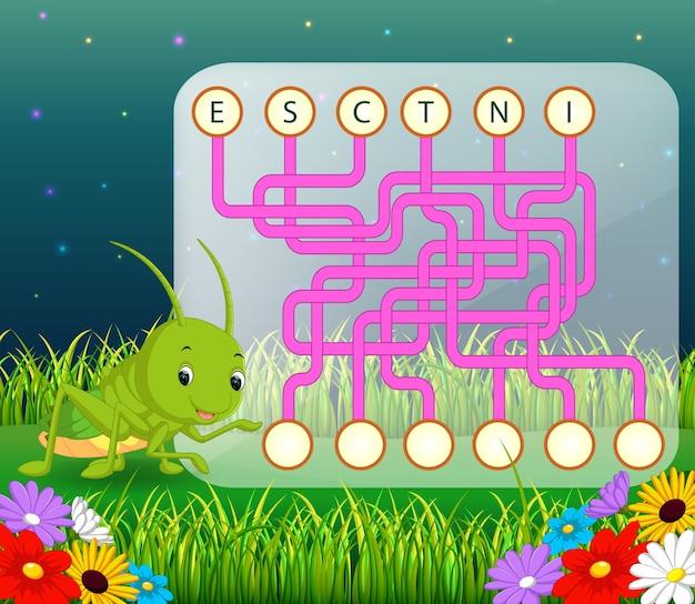 Logik-puzzle-spiel für das studium englisch