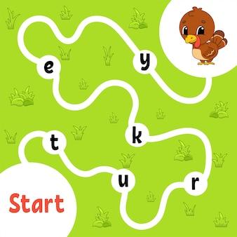 Logik-puzzle-spiel. wörter für kinder lernen.