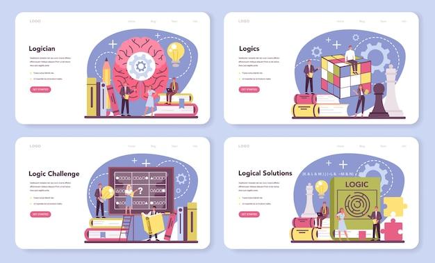 Logiker web-banner oder landingpage-set