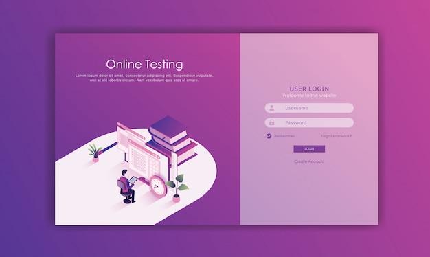 Login seite design