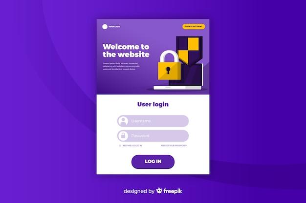 Login-website für zielseite