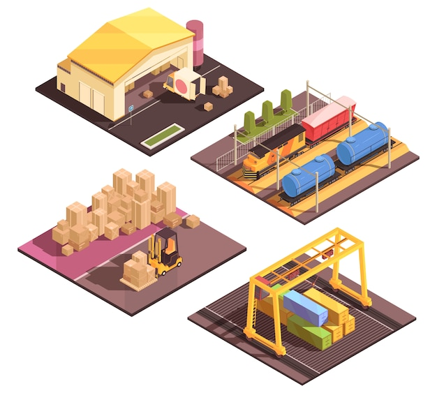 Logistic sort facilities set