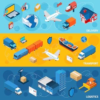 Logistik-banner-set