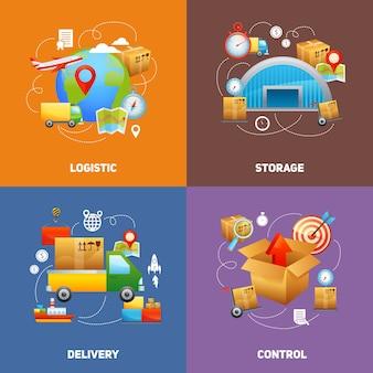 Logistik-design-konzept