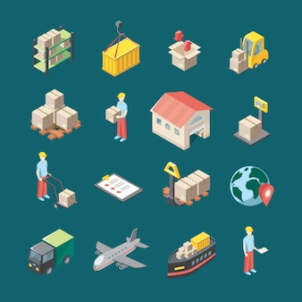Logistik icons set