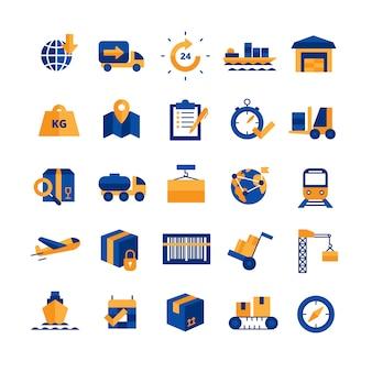Logistik icons set Kostenlosen Vektoren