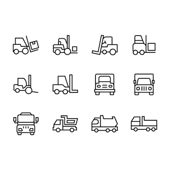 Logistik lieferung transport icons