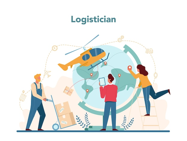Logistik- und lieferservicekonzept