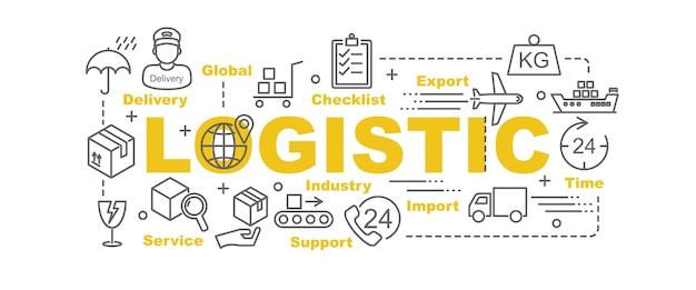 Logistik-vektor-banner
