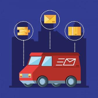 Logistikdienst für lieferwagen
