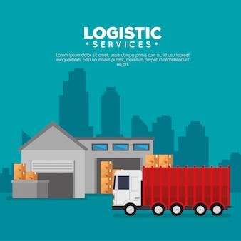 Logistikdienstleistungen mit lagergebäude
